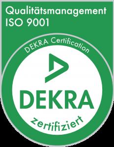 ISO 9001 DEKRA zertifiziert